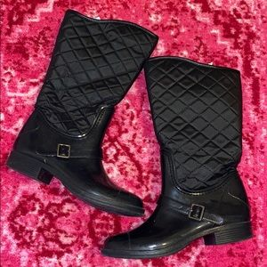 Merona Quilted Rain Boots